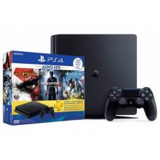 Игровая приставка SONY PlayStation 4 Slim 500 Gb Black HZD+GOW3+UC4+PSPlus 3М